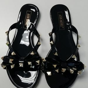 Other - Girls Black Studded Jelly Sandals